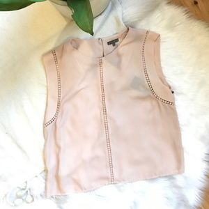 Vince Camuto NWT Peach Blouse with Pierced Detail